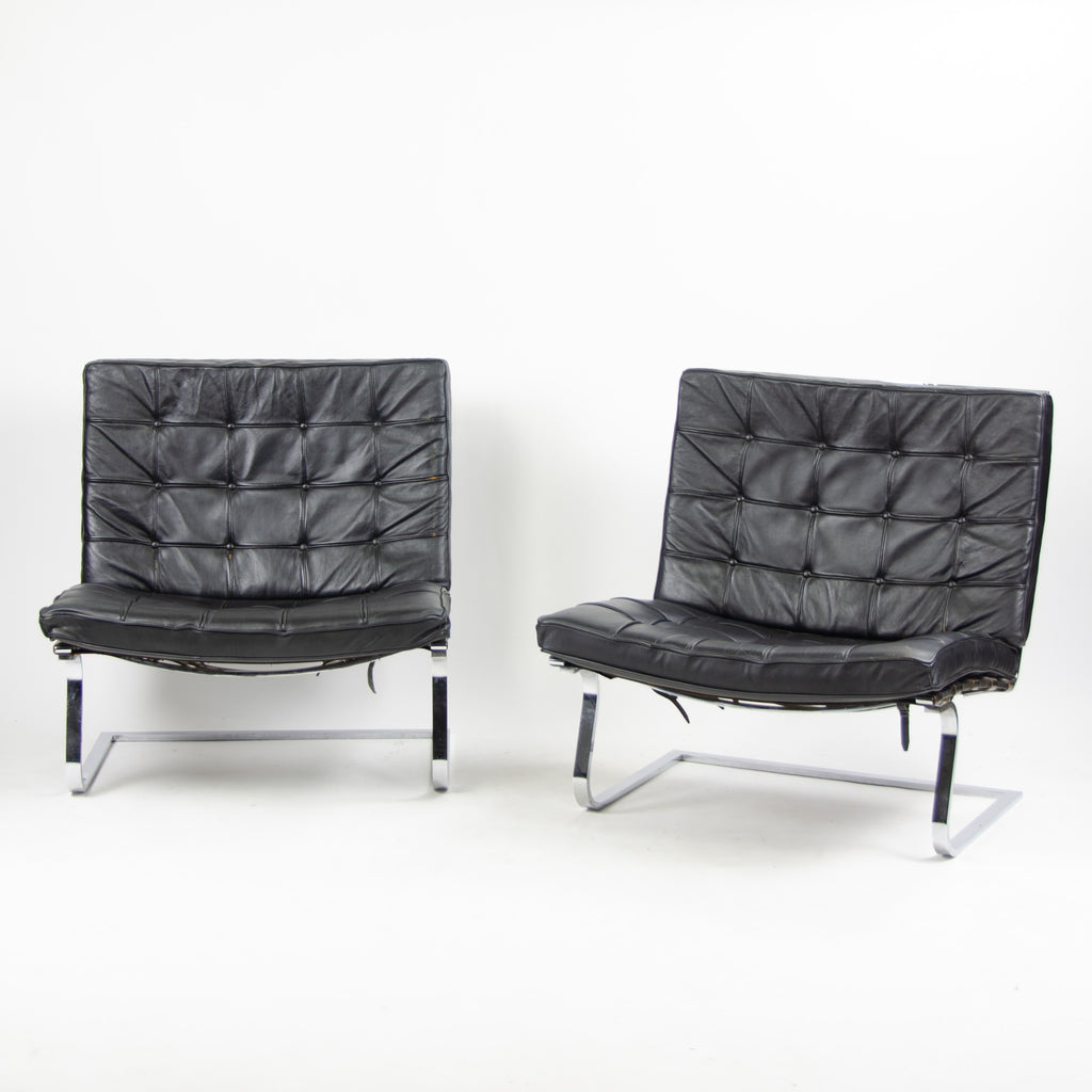 1960's Knoll International Mies Van Der Rohe Tugendhat Lounge Chairs