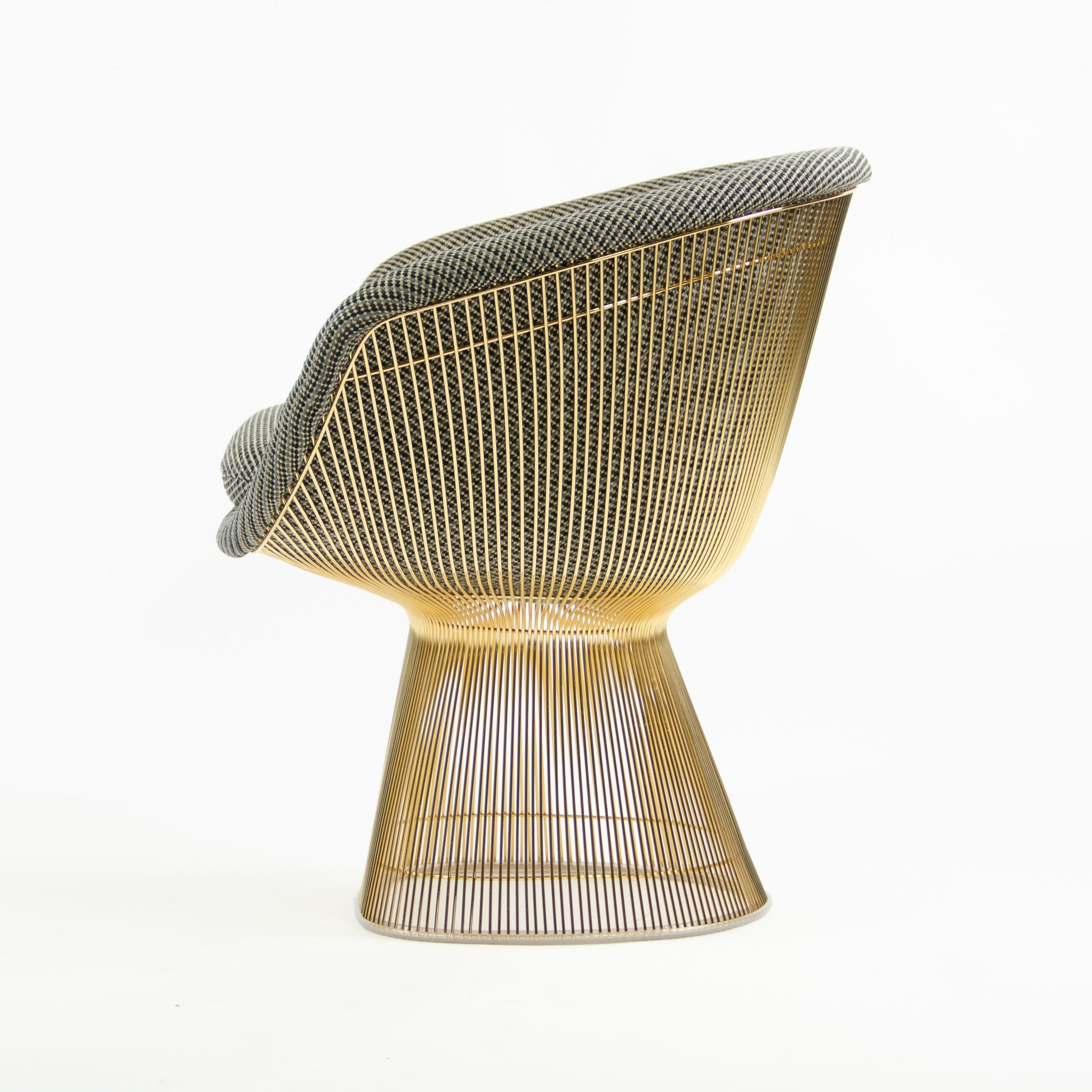 SOLD Brand New In Box Knoll Studio Warren Platner Lounge Chair in Gold