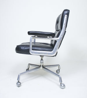 SOLD Eames Herman Miller Time Life Aluminum Group Chair Leather Vintage Original