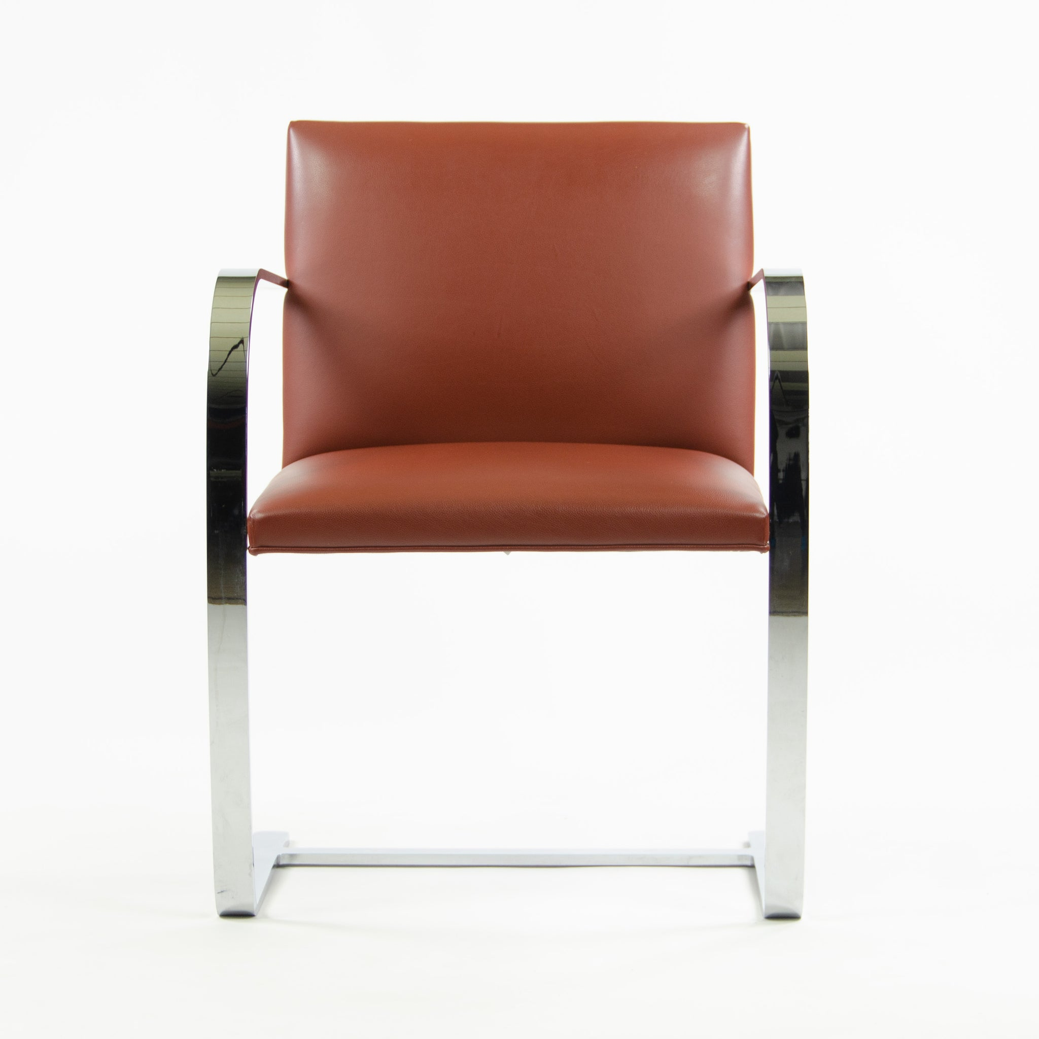 Knoll Mies Van Der Rohe Brno Chairs Redrust Leather 3x Avail 2006