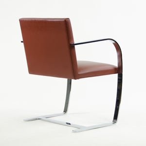 SOLD Knoll Mies Van Der Rohe Brno Chairs Red/Rust Leather 3x Avail 2006 MINT