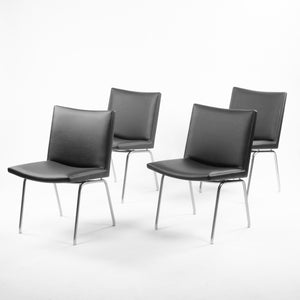 1960s Hans J. Wegner Set of 10 AP38 Airport Dining Chairs by A.P. Stolen Denmark