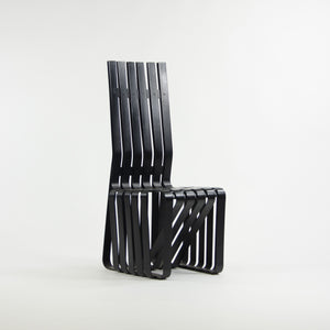 1990's Set of Four Frank Gehry for Knoll High Sticking Dining Side Chairs Maple