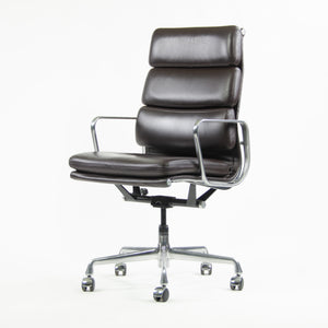 SOLD Herman Miller Eames Soft Pad Aluminum Group High Back Chair 2013 Brown Leather