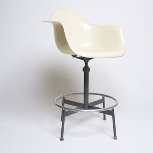 SOLD Rare Herman Miller Eames Fiberglass Drafting Arm Shell Chair 1950's vintage
