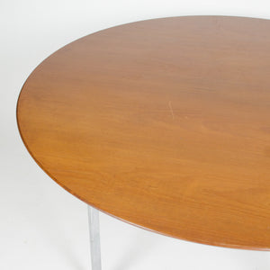 SOLD Florence Knoll Dining / Conference Table 48 Walnut Rare X Base