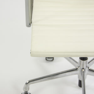 SOLD Herman Miller Eames 2010's Leather High Executive Aluminum Group Desk Chair White