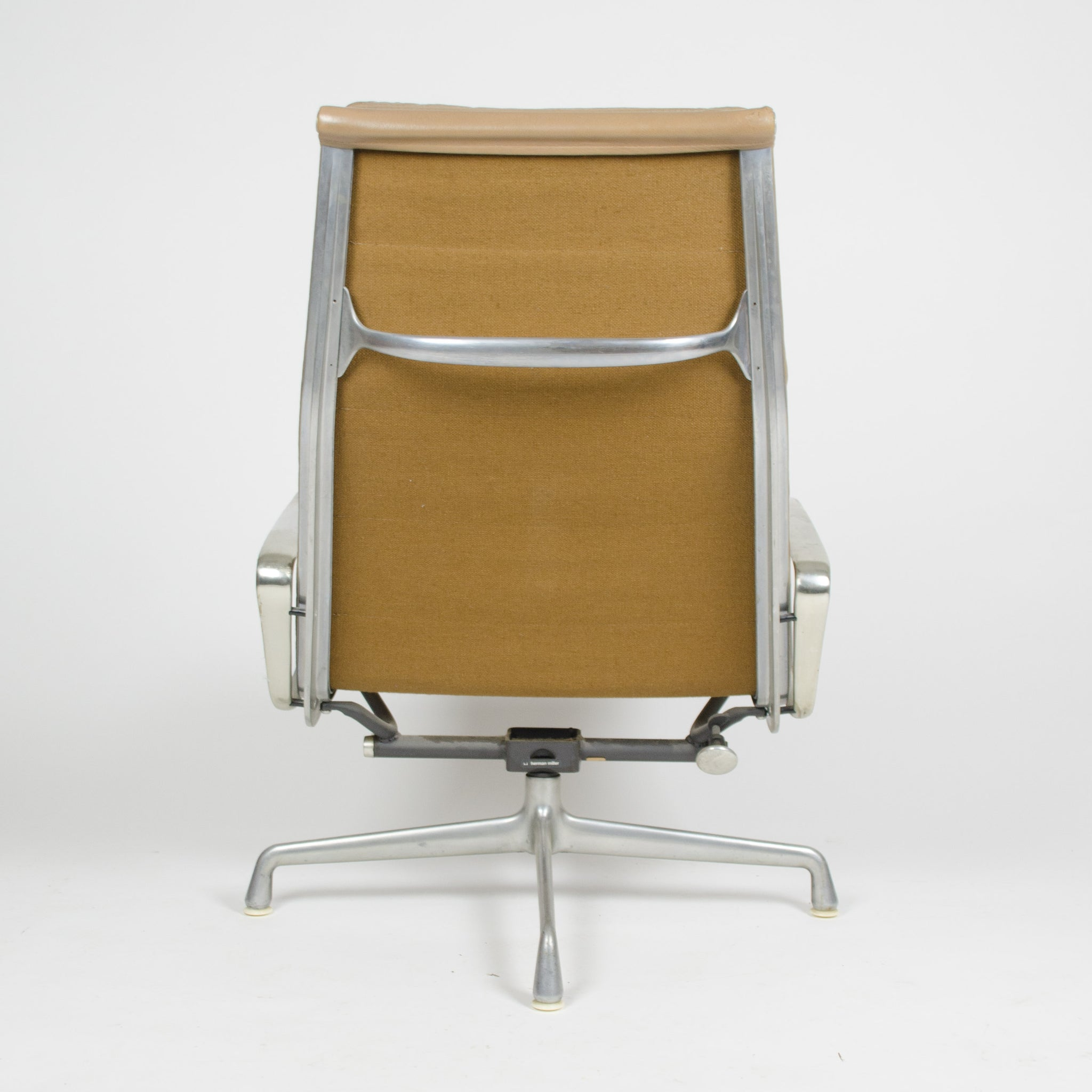 SOLD Herman Miller Eames Soft Pad Lounge Chair with Ottoman Tan 1970's
