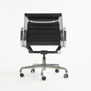 SOLD Herman Miller Eames 2010's Low Aluminum Group Management Desk Chair Black Leather