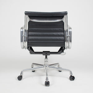 Herman Miller Eames Low Aluminum Group Executive Desk Chair Black Leather 2007