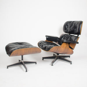 Astonishing Sold 1956 Herman Miller Eames Lounge Chair W Swivel Ottoman Lamtechconsult Wood Chair Design Ideas Lamtechconsultcom