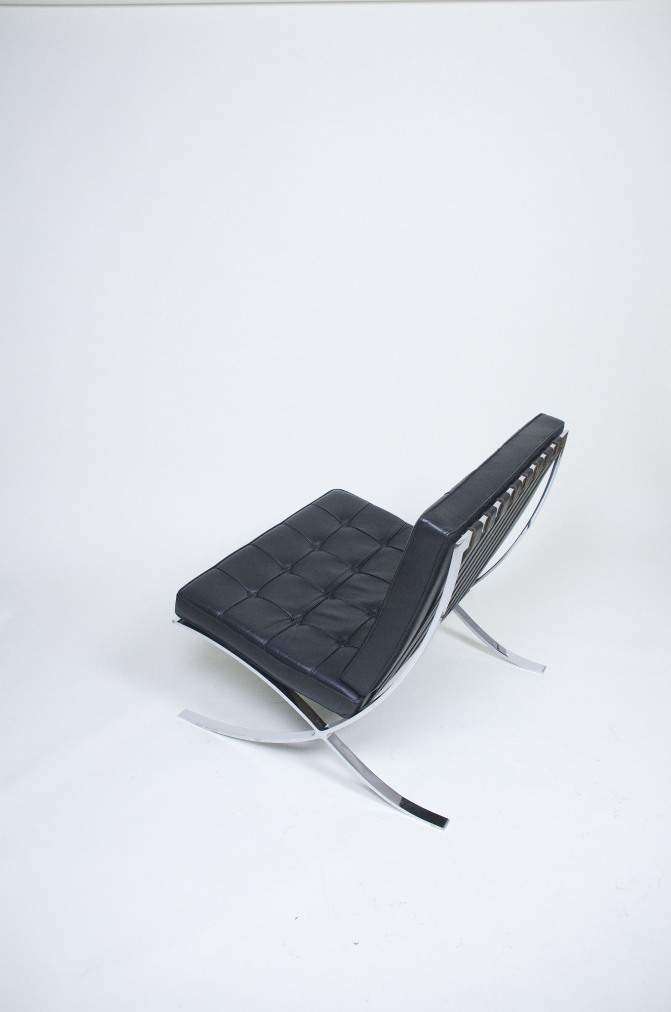 SOLD Knoll Barcelona Chair Mies Van Der Rohe Black Leather