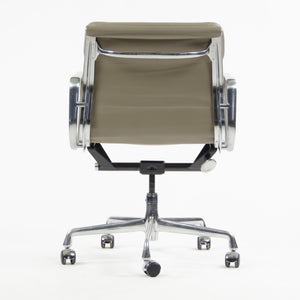 SOLD Herman Miller Eames Soft Pad Aluminum Group Chair Gray Leather 2005 2x Available '