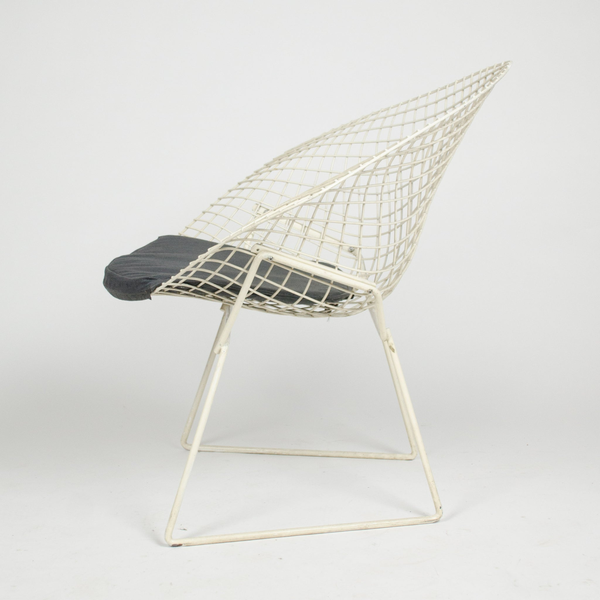 SOLD Harry Bertoia Diamond Lounge Chair for Knoll International + Ottoman 2x