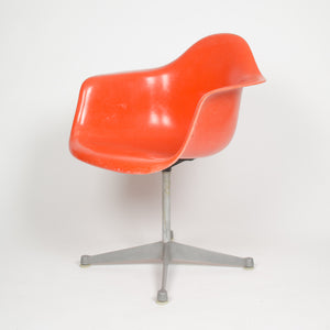 SOLD Eames Herman Miller Red / Orange Fiberglass Shell Chair