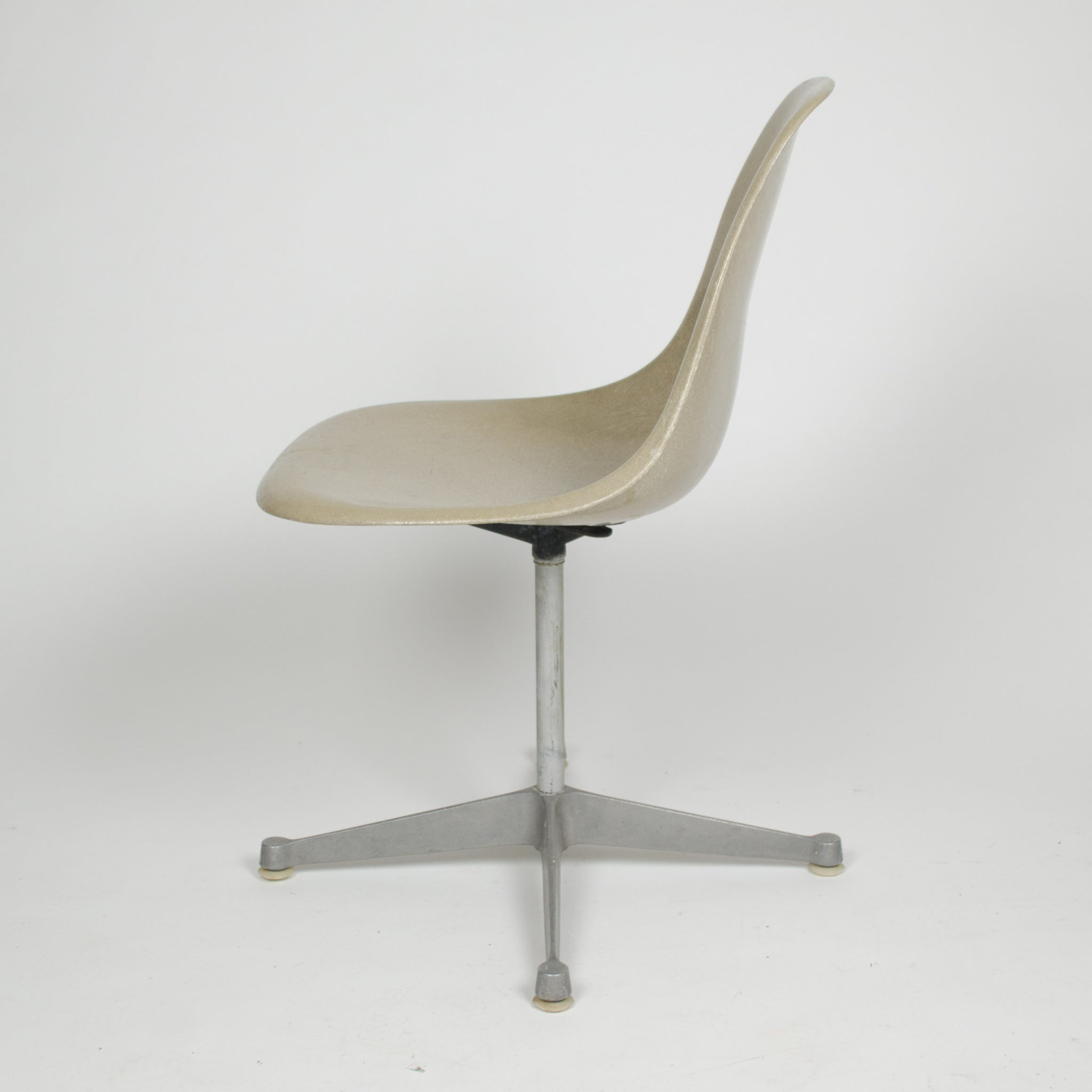 SOLD Eames Herman Miller Gray Greige Fiberglass Side Shell Chair
