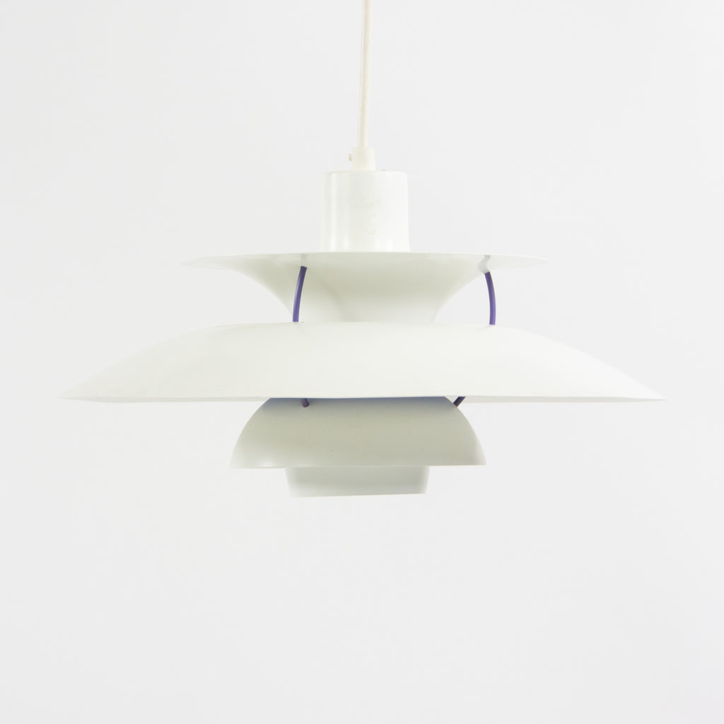 SOLD Louis Poulsen Poul Henningsen PH 5 Pendant Hanging Lamp Denmark White
