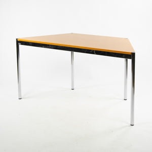 Fritz Haller USM Haller Beech Wood Trapezoid Table Modular 1500x740 Knoll Office Sets Available