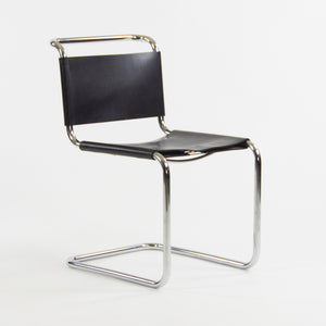 SOLD 1960's Set of 6 Marcel Breuer for Knoll B33 Dining Chairs Chrome Leather Bauhaus