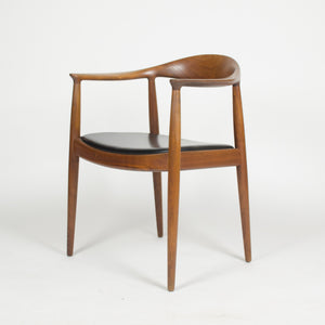 SOLD 12 Hans Wegner Round The Chair Johannes Hansen Denmark For Knoll Teak Armchairs