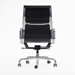 SOLD Brand New 2017 Eames Herman Miller High Soft Pad Aluminum Desk Chair Black Leather