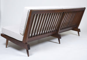 SOLD Authentic George Nakashima 6' Settee Early 60's. New Cushions by Nakashima Upholsterer