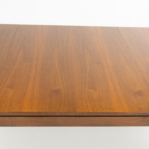 1950's Rare Original Florence Knoll Walnut Dining Table w/ Leaf 56-84 inches