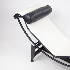 SOLD Cassina Le Corbusier LC4 Chaise Lounge Chair White Leather