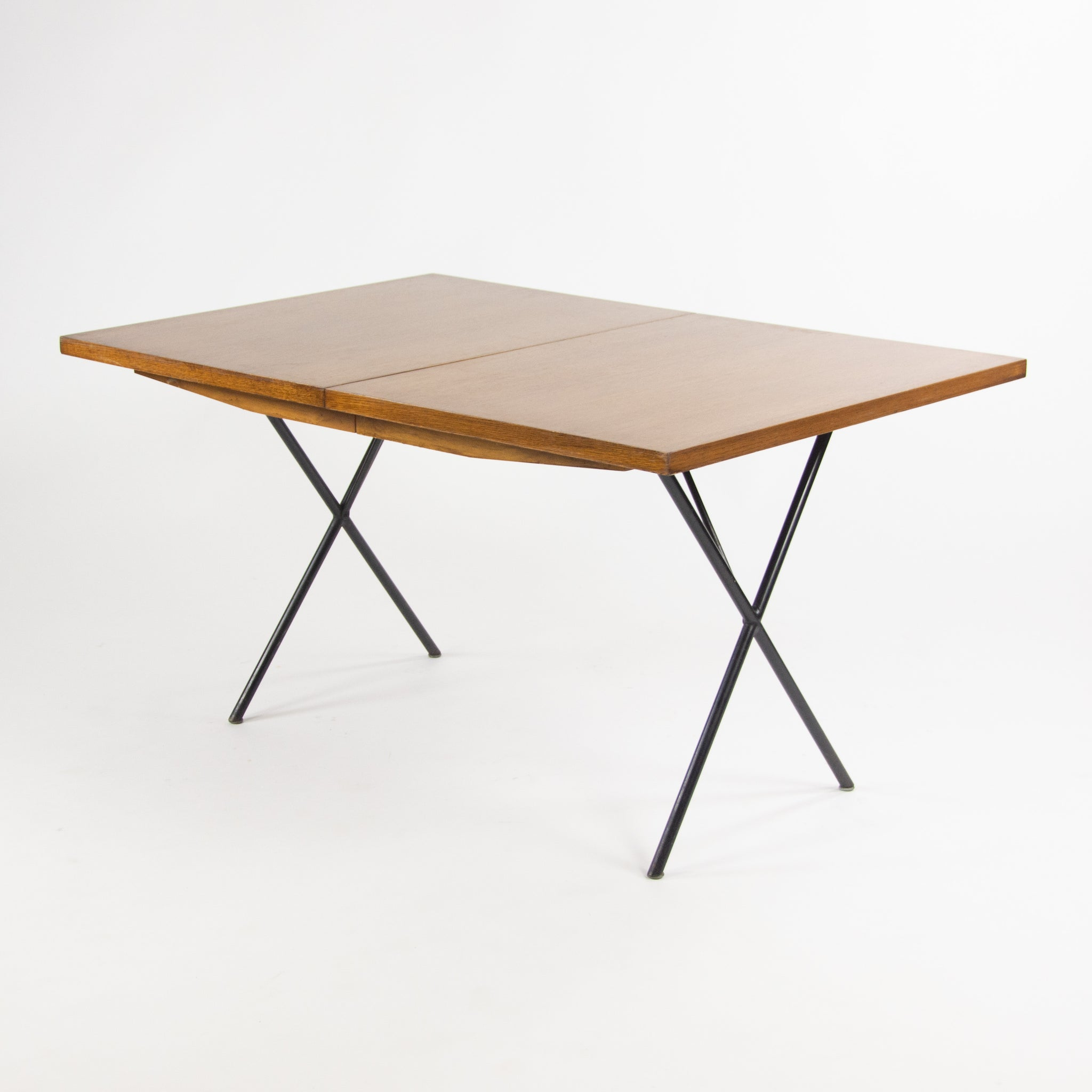 1950's Original George Nelson Herman Miller X Leg Extension Dining Table 5260