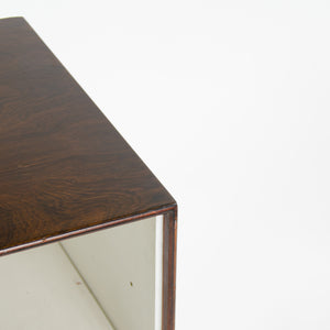 SOLD 1950's George Nelson Herman Miller Thin Edge Rosewood Night Stand Cabinet