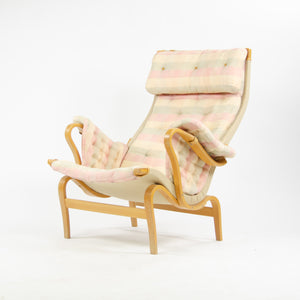 Bruno Mathsson Vintage Original Pernilla Fabric Lounge Chair by Dux in Sweden