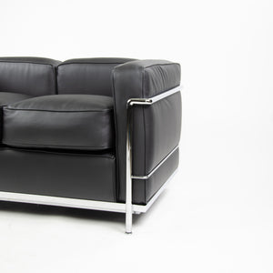 Cassina Italy Le Corbusier LC2 Petit Modele Two-Seat Sofa New Upholstery