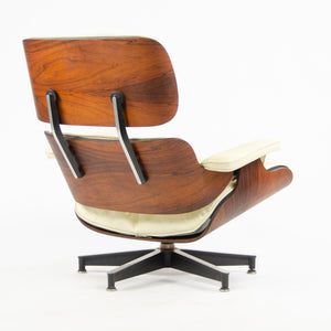 SOLD 1956 Herman Miller Eames Lounge Chair & Ottoman 670 671 Boot Glides Ivory