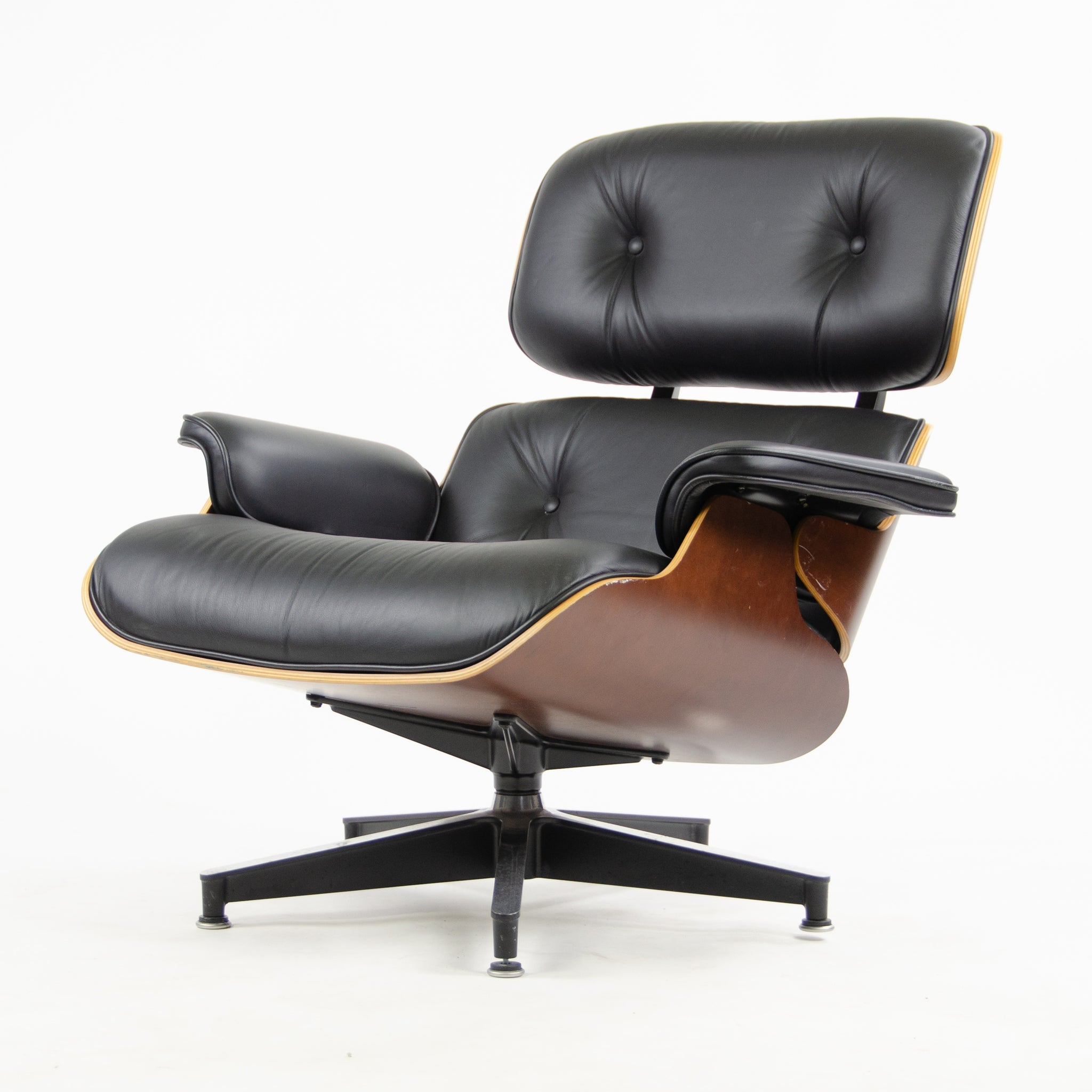 Astonishing Sold 2008 Herman Miller Eames Lounge Chair Ottoman Cherry Andrewgaddart Wooden Chair Designs For Living Room Andrewgaddartcom