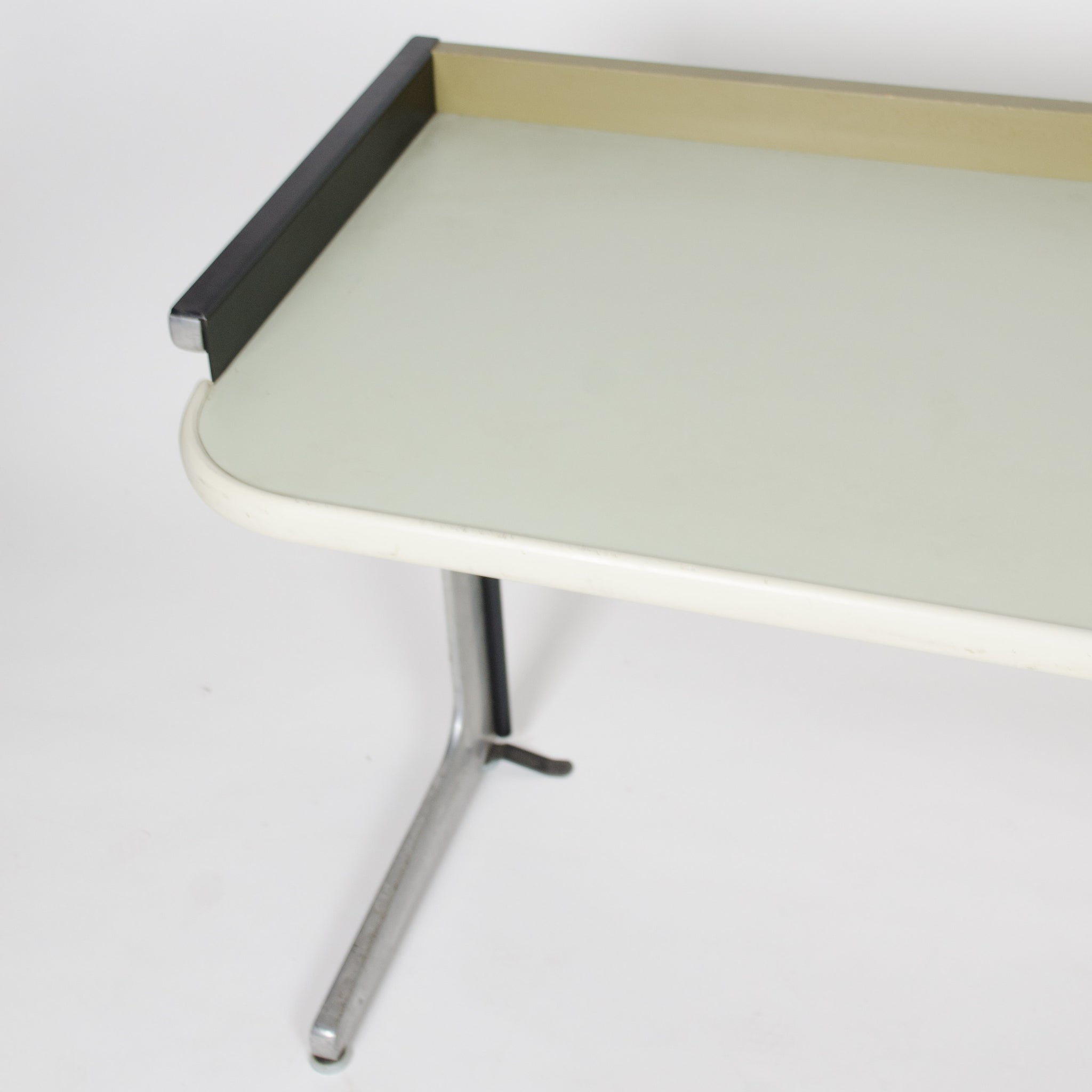 SOLD George Nelson For Herman Miller Action Office Desk With Wood Faced Drawer