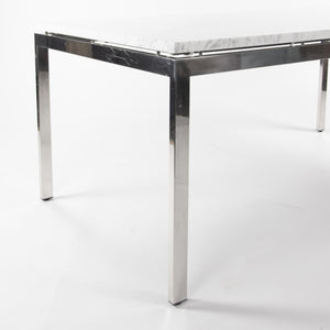 Marble 2011 Cumberland Meeting Dining Table Desk White w/ Stainless Base Knoll