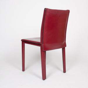 SOLD Italian Leather Dining Chairs Atelier International Cassina Mario Bellini (6x)