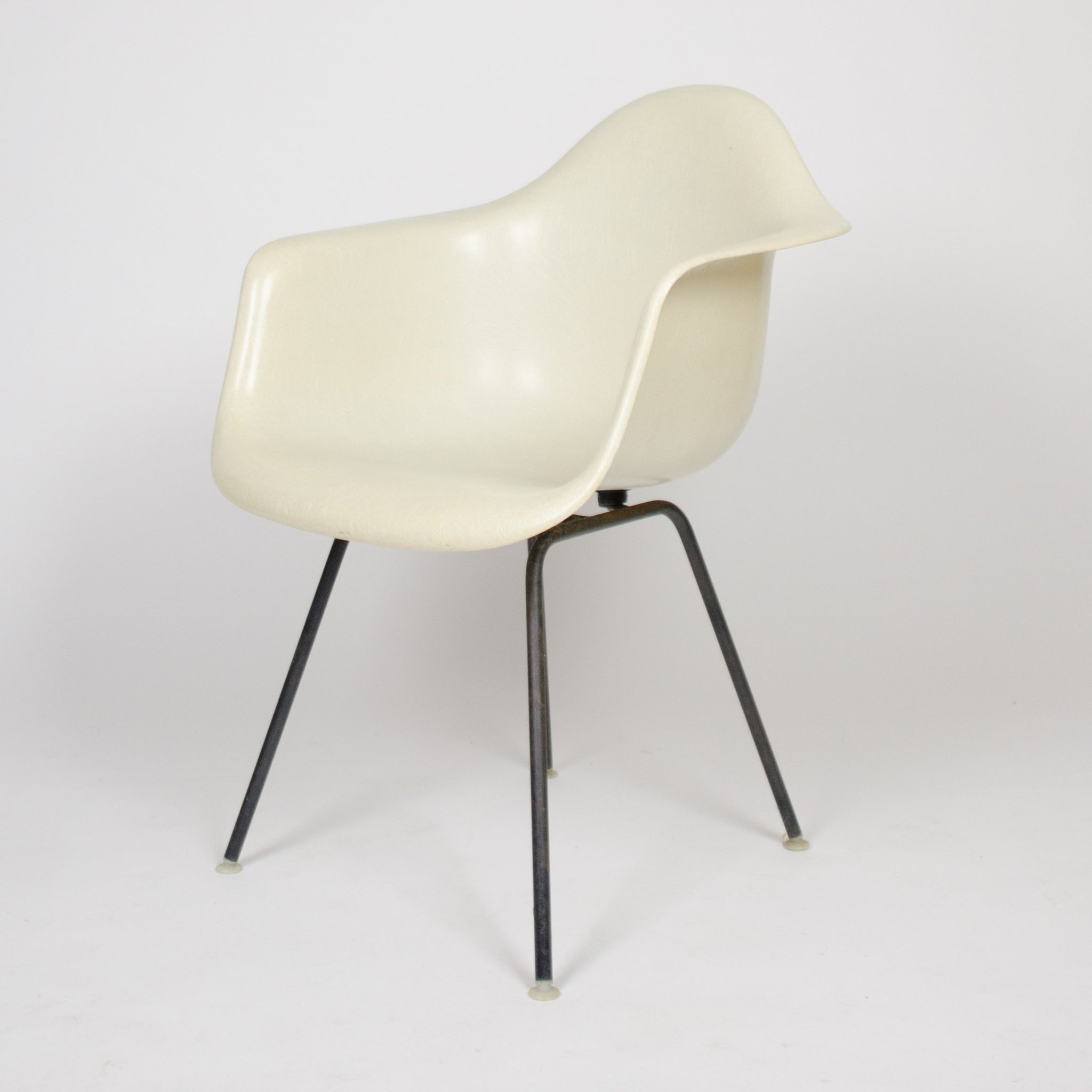 SOLD Herman Miller Eames 1950's Ivory / White Fiberglass Shell Chairs Arm Shells 2x