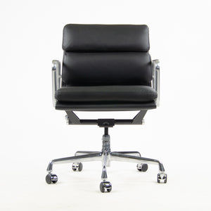 SOLD Herman Miller Eames Low Soft Pad Aluminum Desk Chair Black Leather New Old Stock