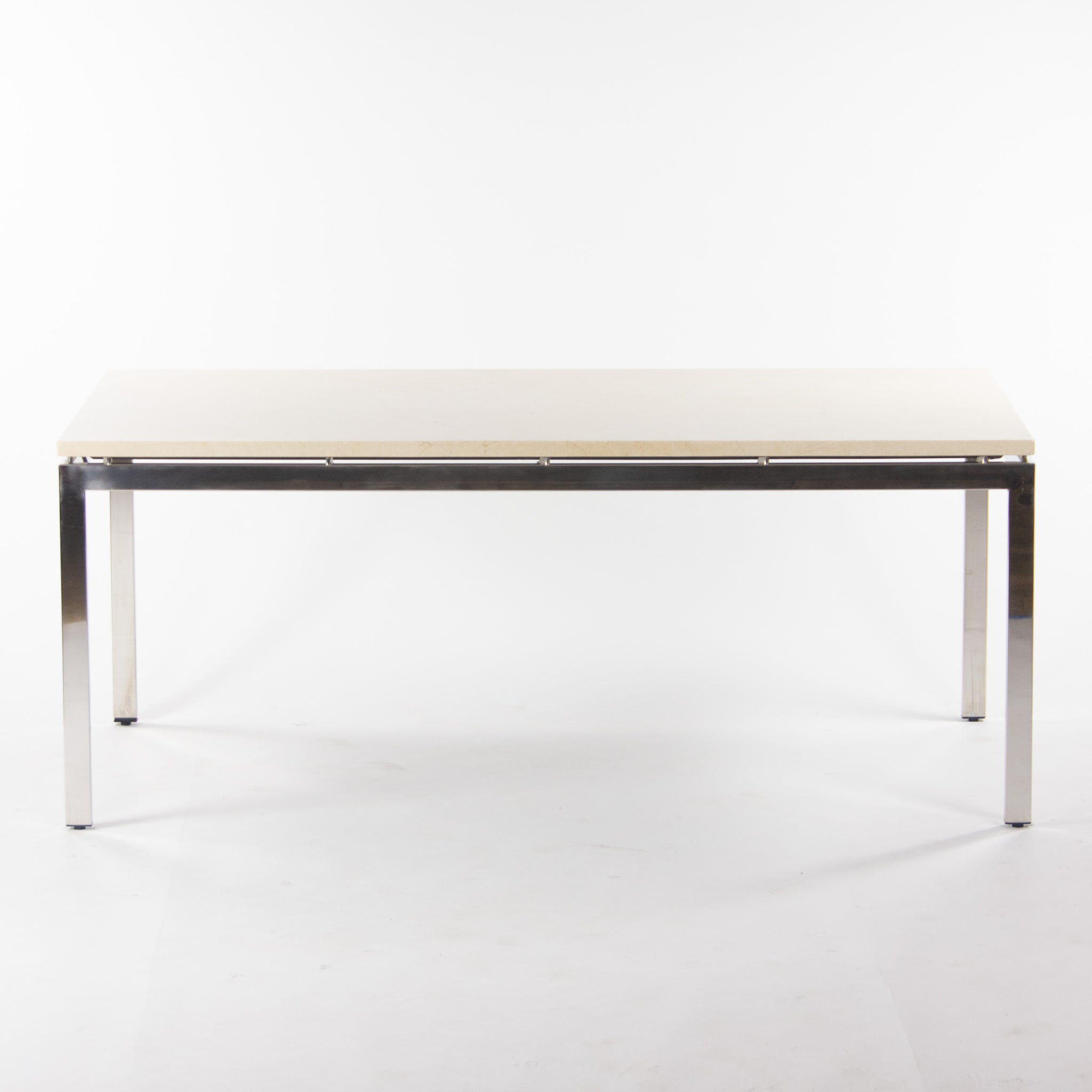 Granite Cumberland 6x3 Meeting Dining Conference Table Beige w/ Stainless Steel Base