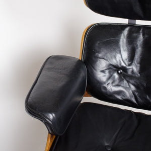 SOLD 1960's Herman Miller Eames Lounge Chair & Ottoman Rosewood 670 671 Black Leather