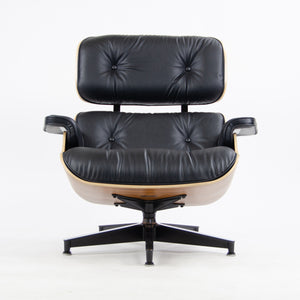 SOLD Eames Herman Miller Lounge Chair & Ottoman Palisander 670 671 Black Leather NEW