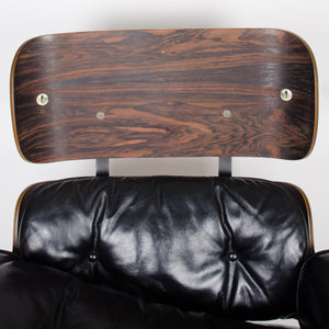 SOLD 1956 Holy Grail Herman Miller Eames Lounge Chair w Swivel Ottoman Boots + 3 Hole