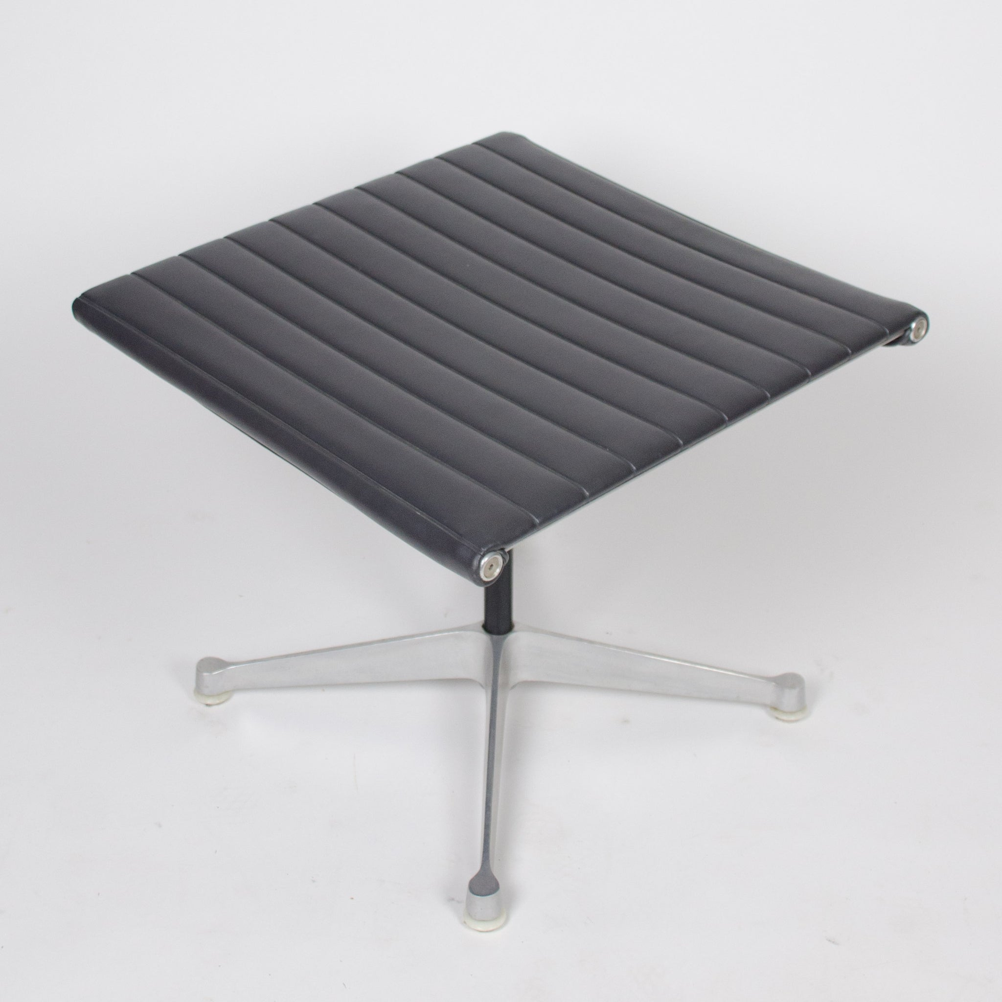 SOLD 1958 PATENT PENDING Eames Herman Miller Aluminum Lounge and Ottoman