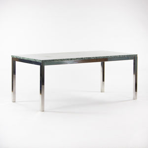 Green Granite Cumberland Meeting Dining Conference Tables Stainless Steel Base