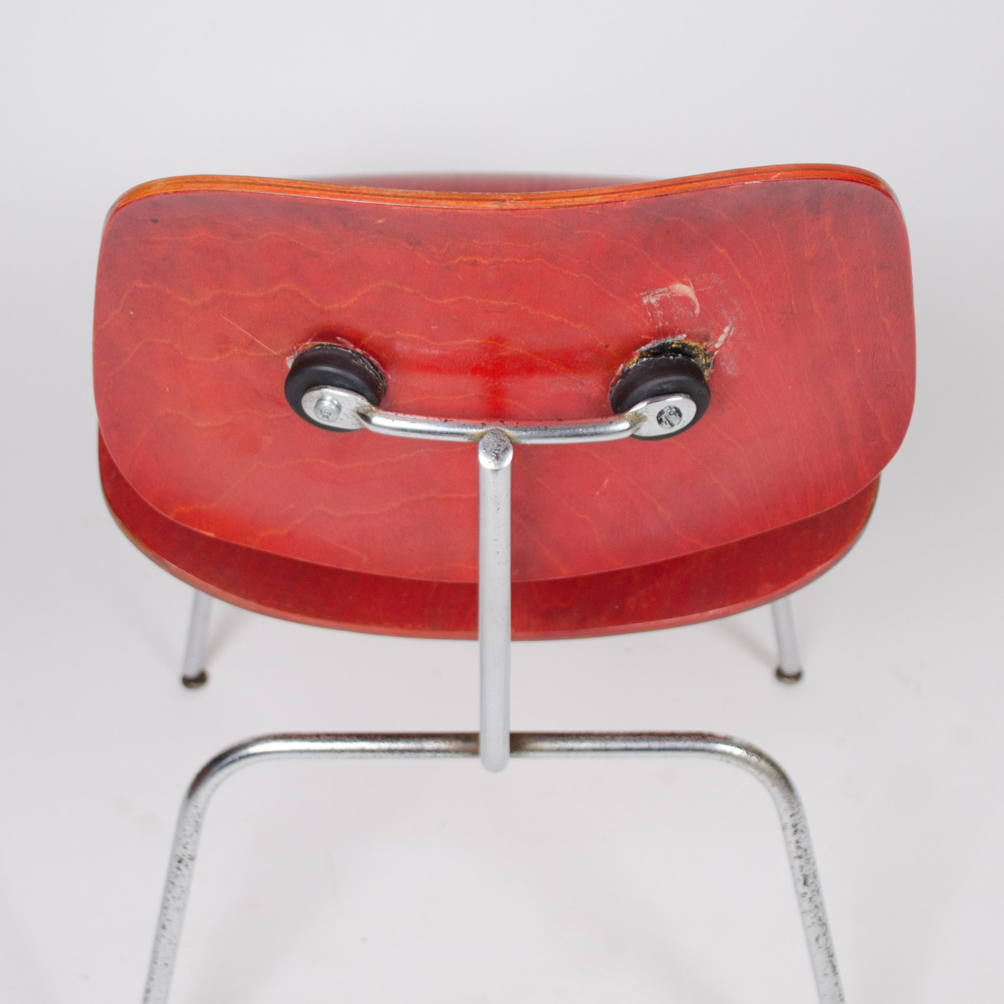 Eames Evans Herman Miller 1940's DCM Dining Chairs Red Aniline Dye 1x Available