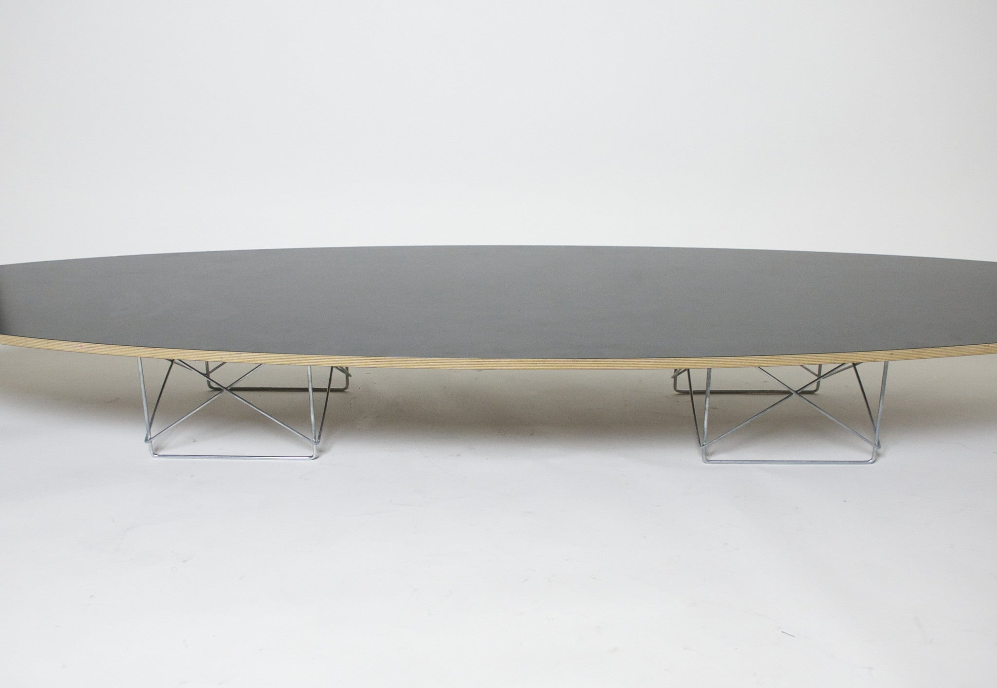 "SOLD Eames Herman Miller Surfboard Elliptical Table 89"" Mid"
