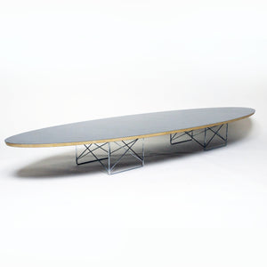 "SOLD Eames Herman Miller Surfboard Elliptical Table 89"" Mid Century Excellent Shape"