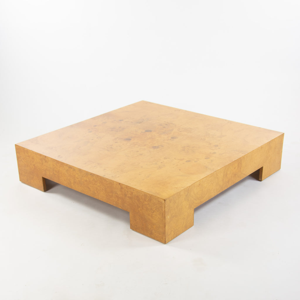 SOLD Milo Baughman for Thayer Coggin 1970's Cocktail Coffee Table Maple Burled Wood