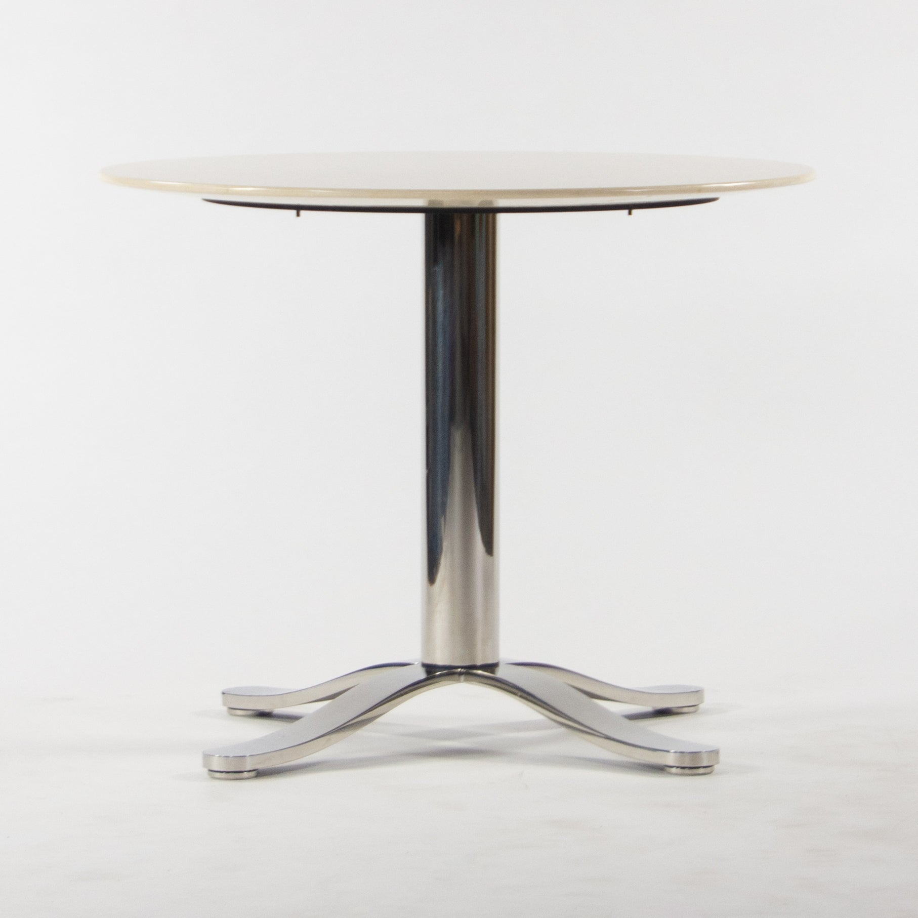 Nicos Zographos Beige Marble Round Meeting Cafe Office Table
